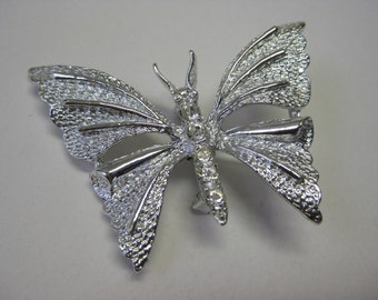 Silver Butterfly with Twinkle - brooch