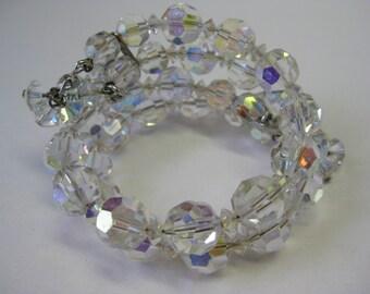 Aurora Borealis Bead - wrap bracelet