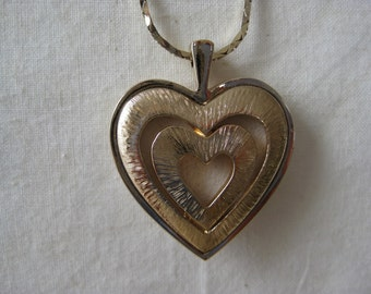 Golden Heart in Heart - necklace
