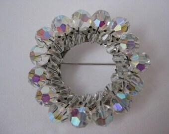 Aurora Ring - vintage brooch
