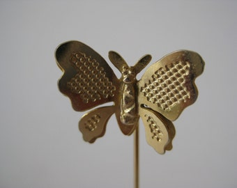 Gold Butterfly - vintage stick pin