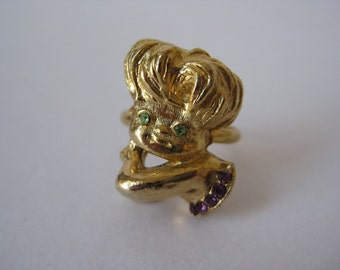 Cute Girly - vintage ring - adjustable