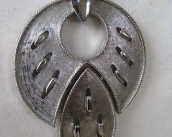 Chunky Silver Mod - vintage necklace