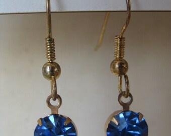 Twinkle Dangle Blue - vintage earrings