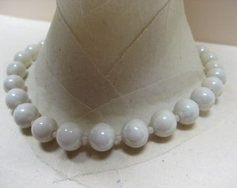 White Beads - necklace