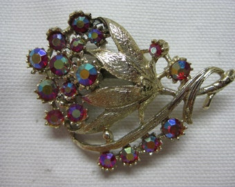 Colorful Bouquet - brooch