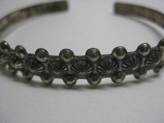 Sterling Silver Bracelet Cuff Vintage