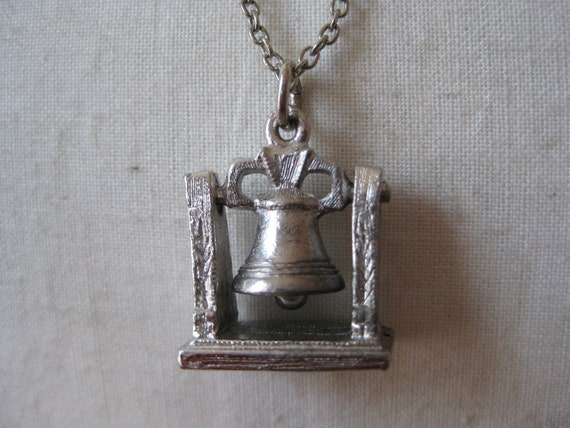 Liberty Bell Necklace Silver Pendant
