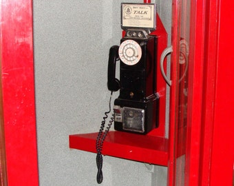 1940s Phone Booth with Correct Phone Restored 20 years ago