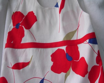 Kids - Red Poppies Floral Halter Dress - Size 5T