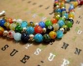 Customizable Multi-Strand Millefiori Glass Bead Bracelet