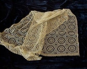 vintage Metalic gold lace scarf