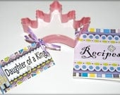 Pink Crown Cookie Cutter with Recipe Book