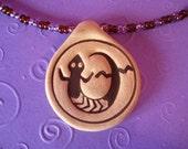 SALE--SW lizard pendant--purple\/brown