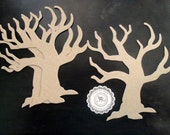 Halloween, Chipboard Tree, no. 109 Chipboard Twig Trees, Chipboard Die Cuts Shapes, .38pts Store Quality Set 3 by Annie42 on Etsy
