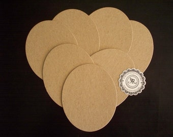 OVALS SALE - Chipboard Ovals Chipboard Die Cuts, no.40, Chipboard Shapes Set of 6 by Annie42 - AR Creations on Etsty