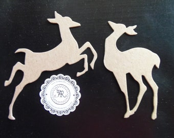 Christmas, Chipboard Reindeer Flight by Tim Holtz Die Cut Christmas Ornament no.123 - Set of 6 pcs by Annie42 - AR Creations