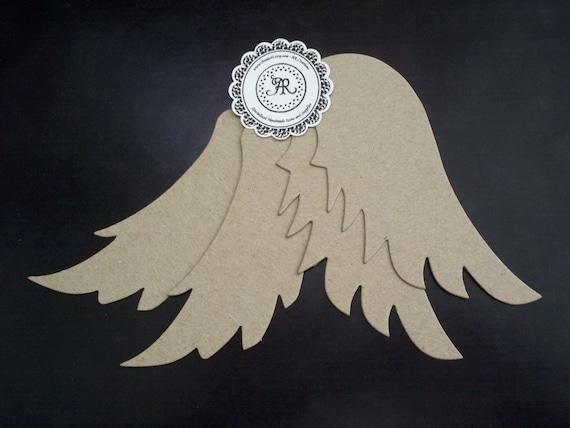 Chipboard Angel Wings Die Cut Shape No. 77 Set Of 4pcs. By