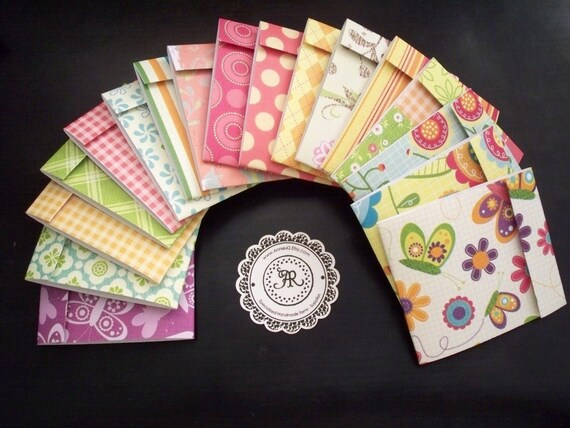 Matchbook Notepads - Mini Notes VARIETY PACK Set of 8 Handmade by Annie42 - AR Creations on Etsy