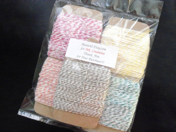 Bakers Twine WHOLESALE 250 yds Baby Sale - Pick from 6 NEW COLORs by Annie42 - AR Creations on Etsy