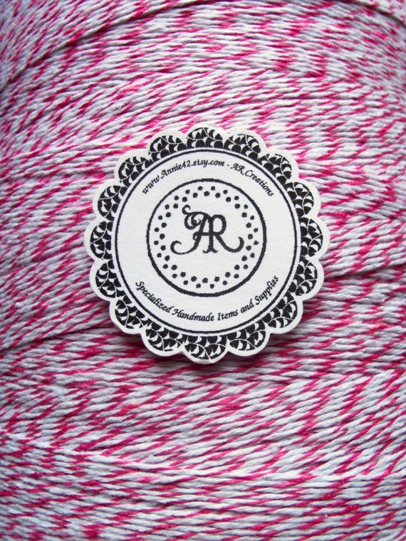 PiNK Bakers Twine 75 feet Baby Dollar Sale PARIS PINK on a Big Chipboard Die Cut Hanging Tag