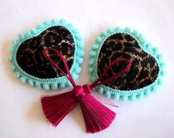 My inner leopard wears hot pink. Burlesque Pasties