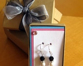 RESERVED for jlcsk8r- 4 pair of Raegan style earring in black