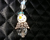MELODY A Guardian Angel Ornament, Rear view Mirror Jewel, sun catcher, Snow Angel, Free Shipping