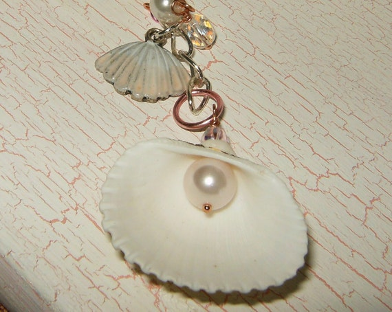 She Sells SHABBY SEASHELLS Ornament, Suncatcher, Rearview Mirror Jewel, Home Decor