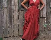 Helen... Earthy red mix silk (S-XL)
