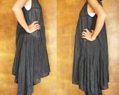 30 USD Sale...Blown away Sleeveless dress...Black mix silk ( S-L)