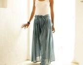 Wild side pants...Blue floral (L-XL)