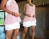 28 USD Sale...Sweet Summer...Tiara pastel stripe tank top (S-M or L-XL)