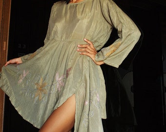 Artistic collection...Sarah dress long sleeve Olive green (XXL)