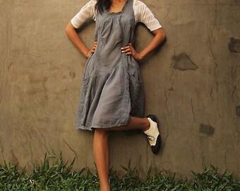Alexis dress...Gray mixed silk 05 XL,XXL,XXXL Available in all colour