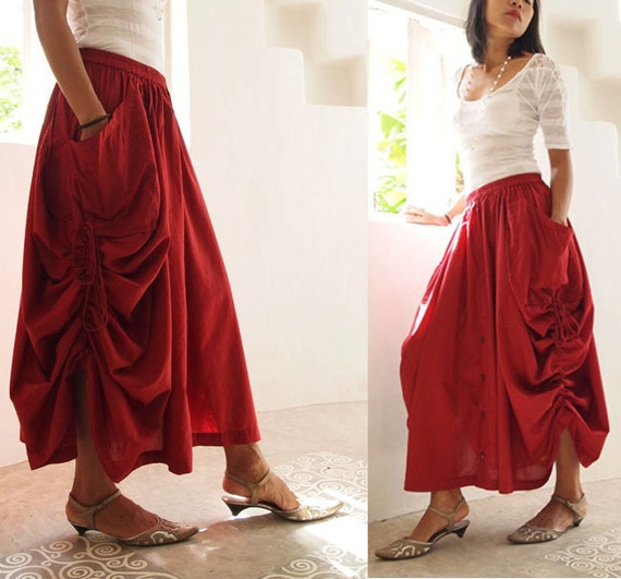 Helen Skirt/Pants cotton convertible M or L