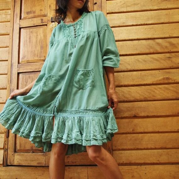 Padma dress...Mint green Mix silk (M-XL)
