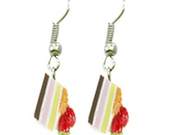 Miniature Bakery Polymer Clay Beads Foods Jewelry Earring