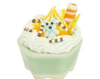 Handmade Miniature Foods Polymer Clay Supplies Ice Cream Cup for Dollhouse 1 pcs