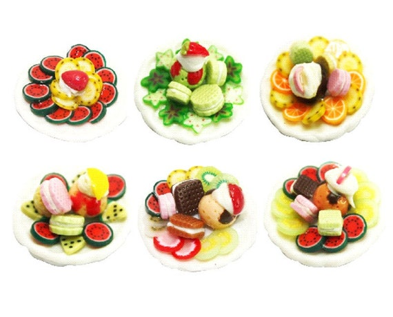Miniature Foods Polymer Clay Supplies Collection, 6 pcs.