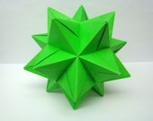 "Modular Origami Star Ball - Lime Green - 4.5"""