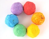 Recycled Paper Seed Bombs - Set of 30 Rainbow Bombs