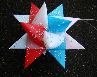 Moravian Stars - Red White and Blue - Set of 5
