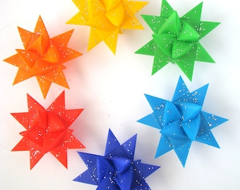 Moravian Stars - Rainbow - Set of 6