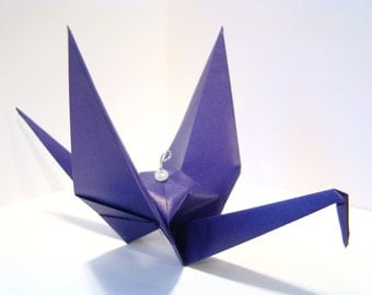 Origami Crane Ornament - Solid Color Crane - Single Ornament