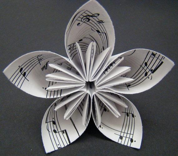 Five Petal Origami Flower - Musical Theme