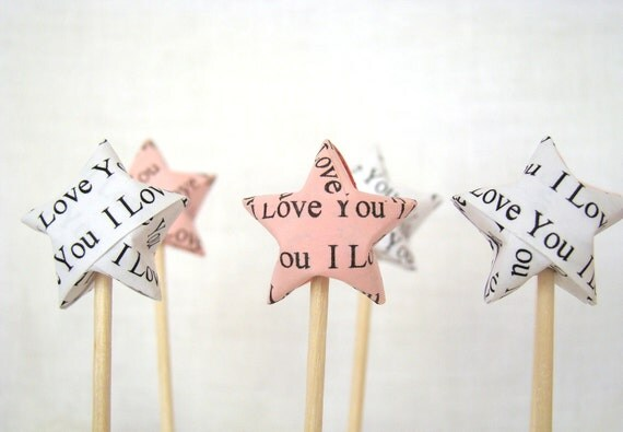 Party Picks - I Love You Lucky Stars - Set of 30 in Your Color Selection