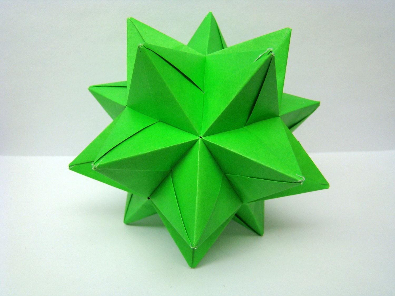 Modulare Origami Sterne Ball Lime Green 4.5 Von