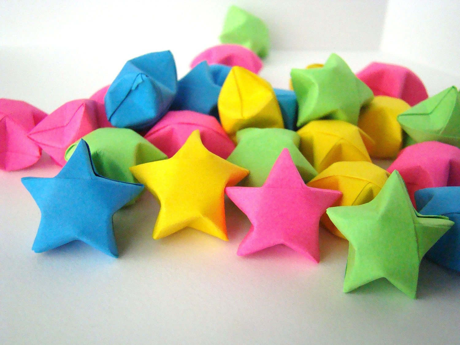 100 origami lucky stars solid colors you pick by