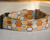 Dog Collar in Warm Orange Sunset